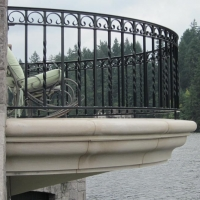 Custom Carved Limestone Balcony by Stone Center, Inc Portland OR