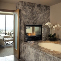 Granite Bath Tub Surround Wall and Riser