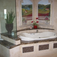 Granite Bath Tub Surround