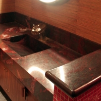 Granite Vanity Counter with Integrated Sink
