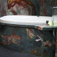 Van Gough Granite Bath Wall Tub Surround