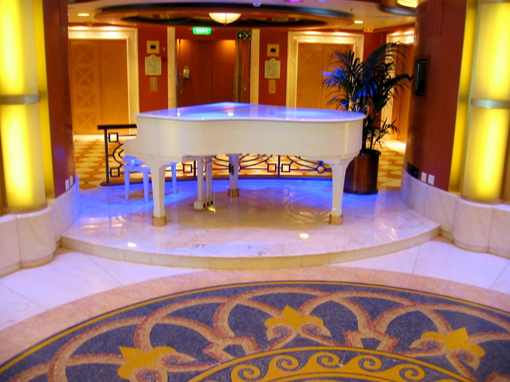 Rosa Portagalo Marble Piano Stage by Stone Center, Inc Portland OR