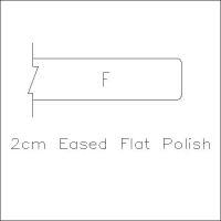 2cm Eased Flat Polish