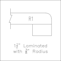 laminated with radius