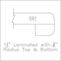 Laminated Radius top & bottom