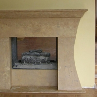 Custom Carved Fireplace Surround Mantle by Stone Center, Inc