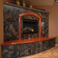 Marble Fireplace Hearth and Surround by Stone Center, Inc