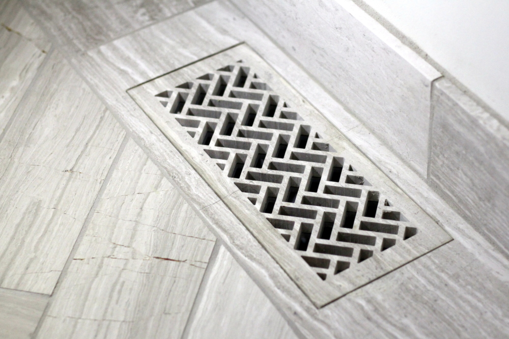 flush mount heat register cover in floor