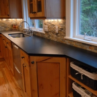 Black Absolute Counter Honed by Stone Center, Inc