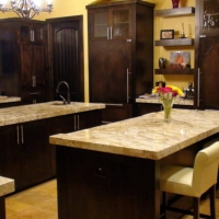 Granite Kitchen Counter by Stone Center, Inc