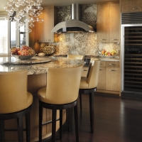 Round Granite Kitchen Island by Stone Center, Inc