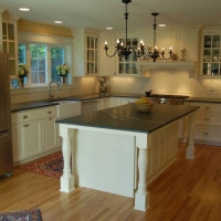 Soapstone Kitchen Island by Stone Center, Inc