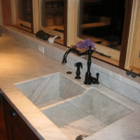 Carrara Marble Integrated Sink by Stone Center, Inc