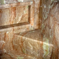 Onyx Shower Seat And Shelf by Stone Center, Inc