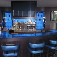 Underlit Glass2 Bar by Stone Center, Inc