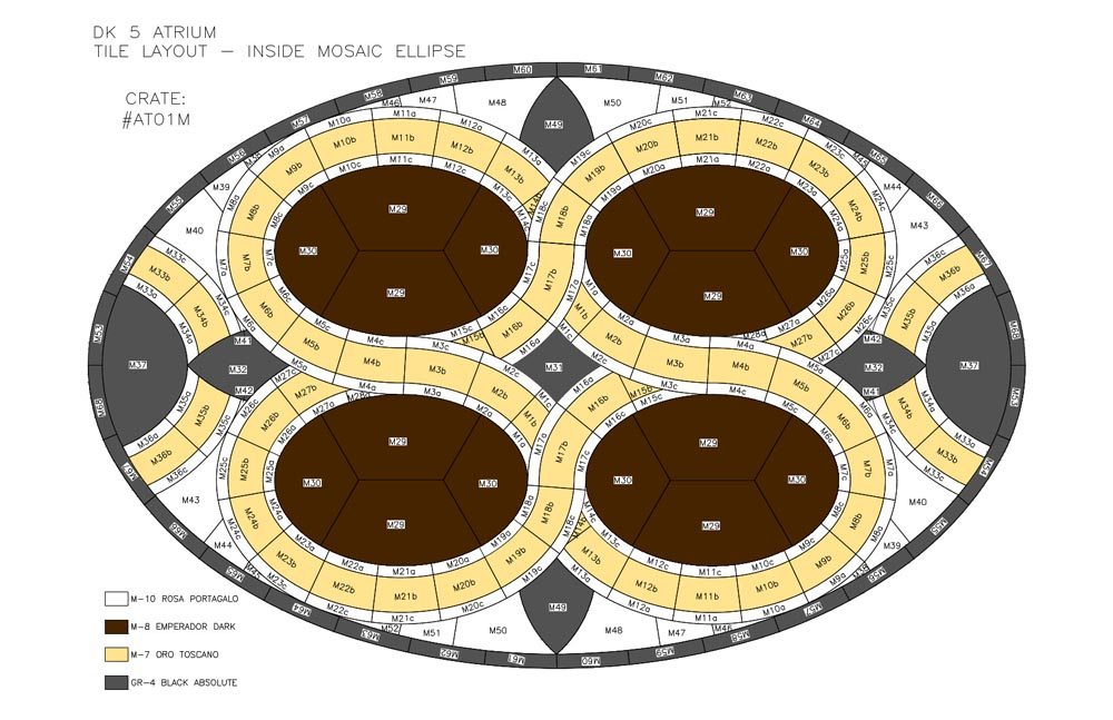 Marble Waterjet Medallion Layout by Stone Center, Inc