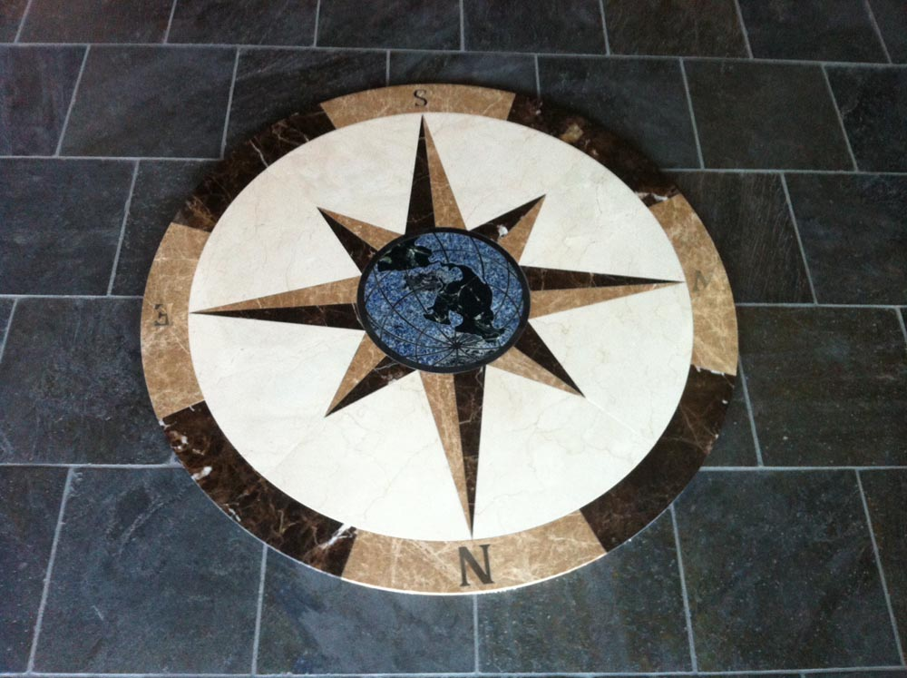 Waterjet Compass Marble Granite Slate by Stone Center, Inc