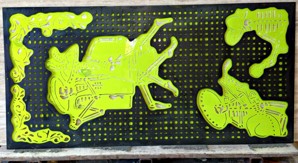 Waterjet Dancing Skeletons Full Panel