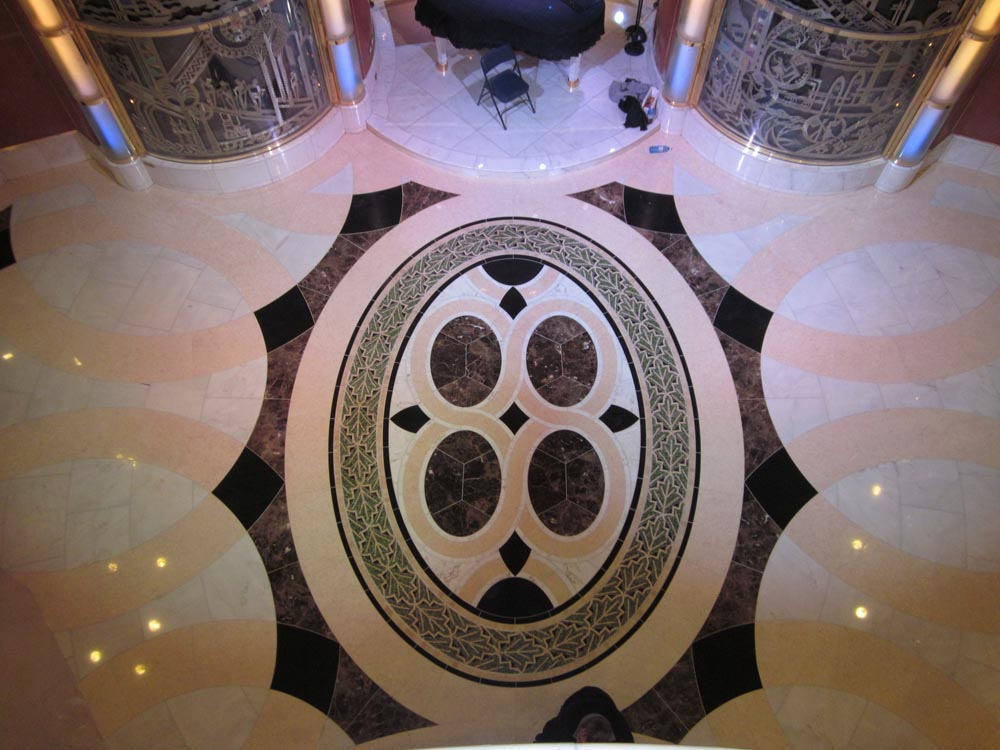 Waterjet Marble Floor Medallion by Stone Center, Inc
