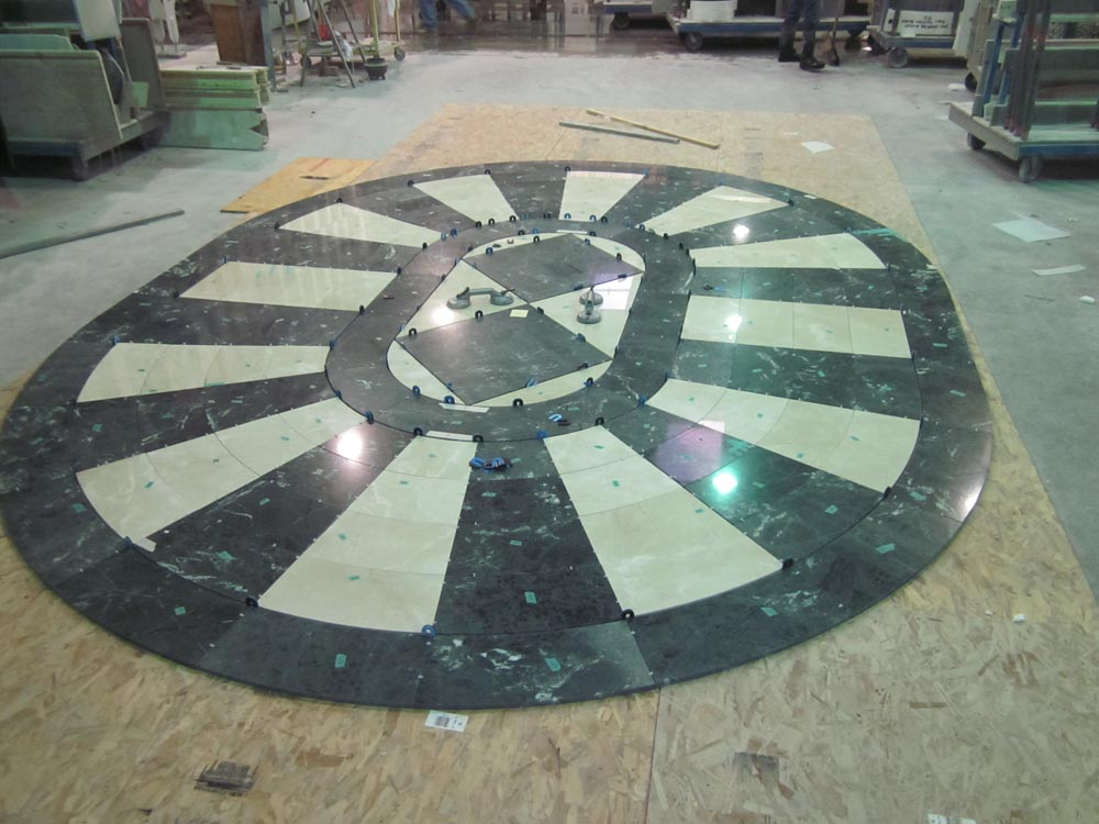 Waterjet Marble Floor Tile by Stone Center, Inc