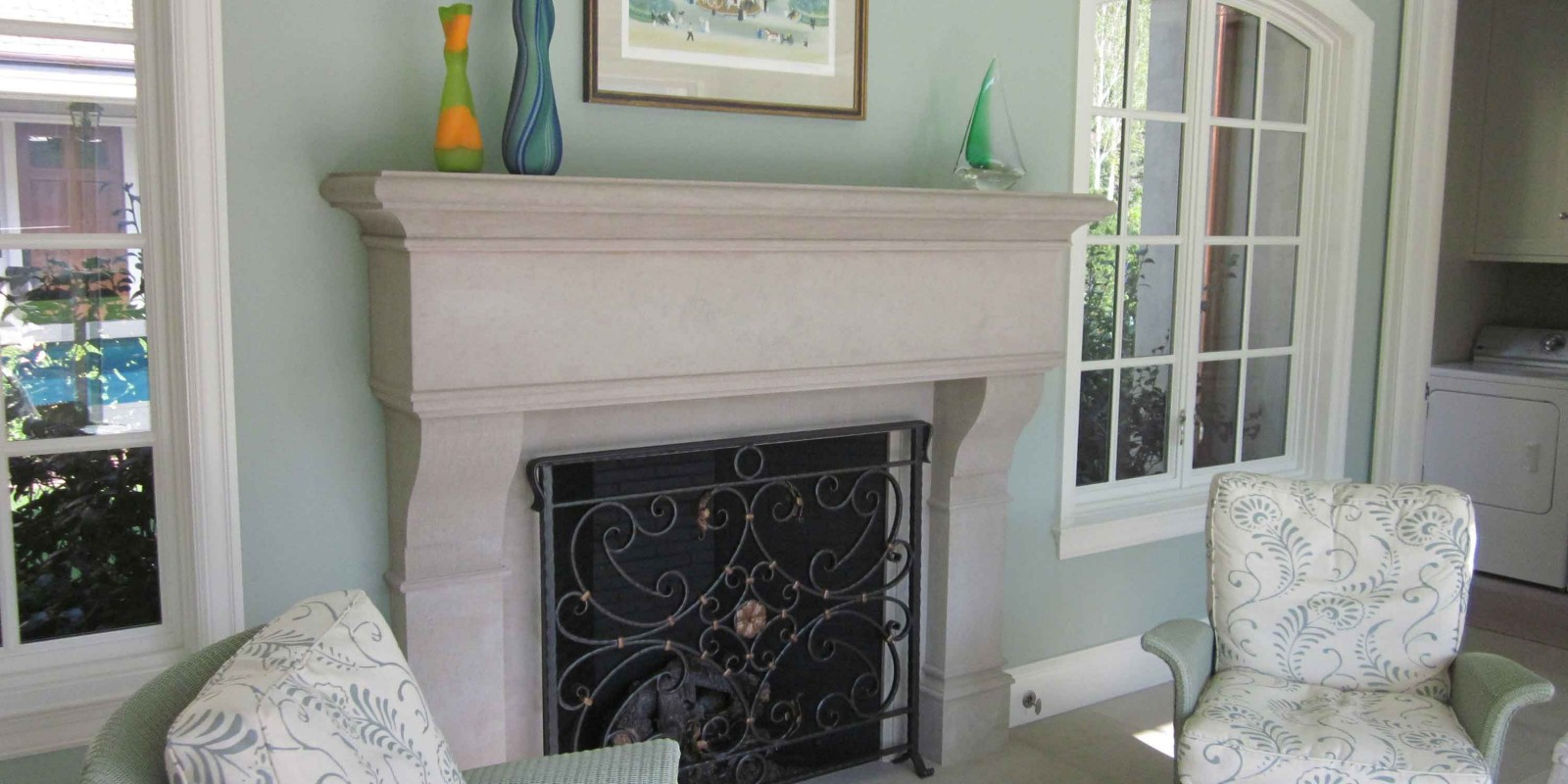Custom-Limestone-Fireplace-Surround