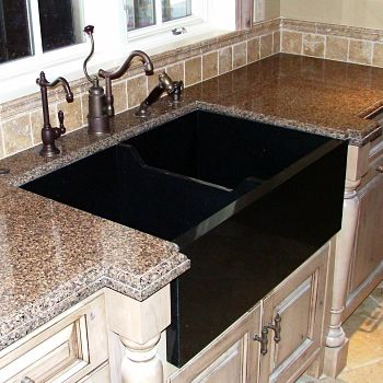 Farmhouse and vessel sinks pros and cons stone center inc absolute black farmhouse sink workwithnaturefo