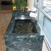 Verde Dark Marble Tub Custom