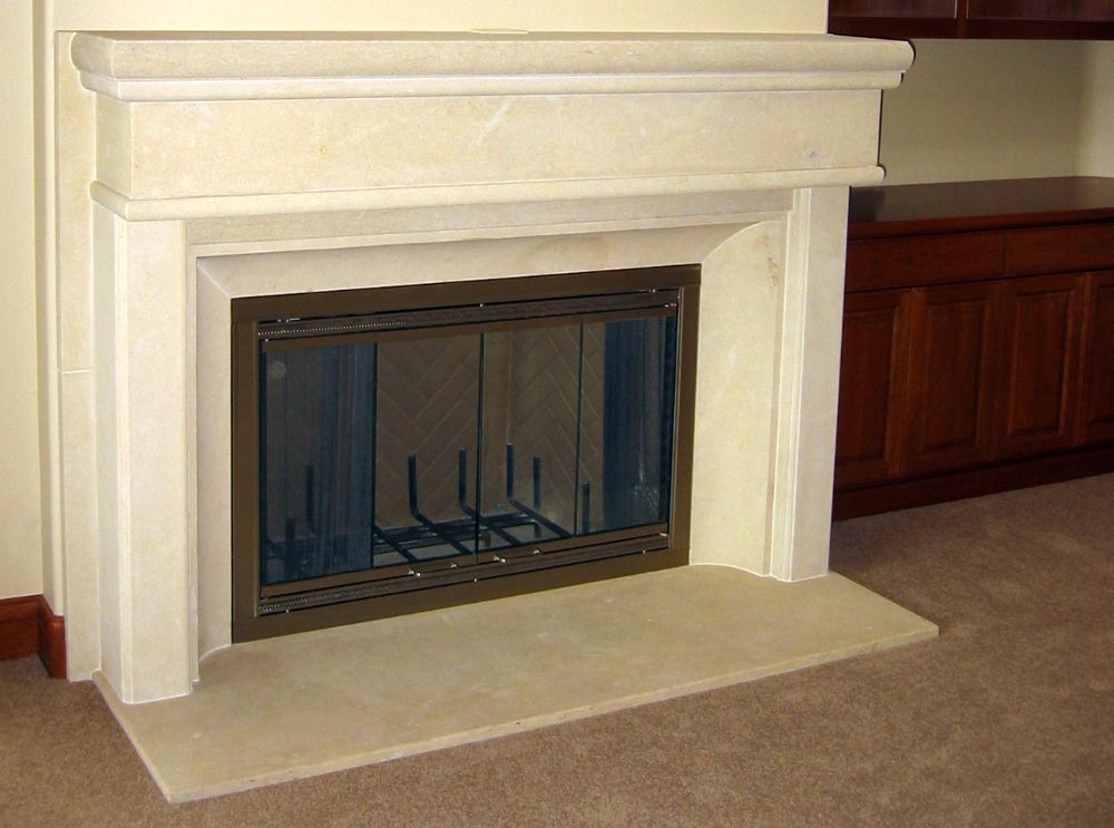 Q A Limestone Fireplace Process Stone Center Inc